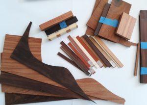 Échantillons de Palissandres, et d'autres espèces de bois, collectées grâce à des luthiers en guitare
