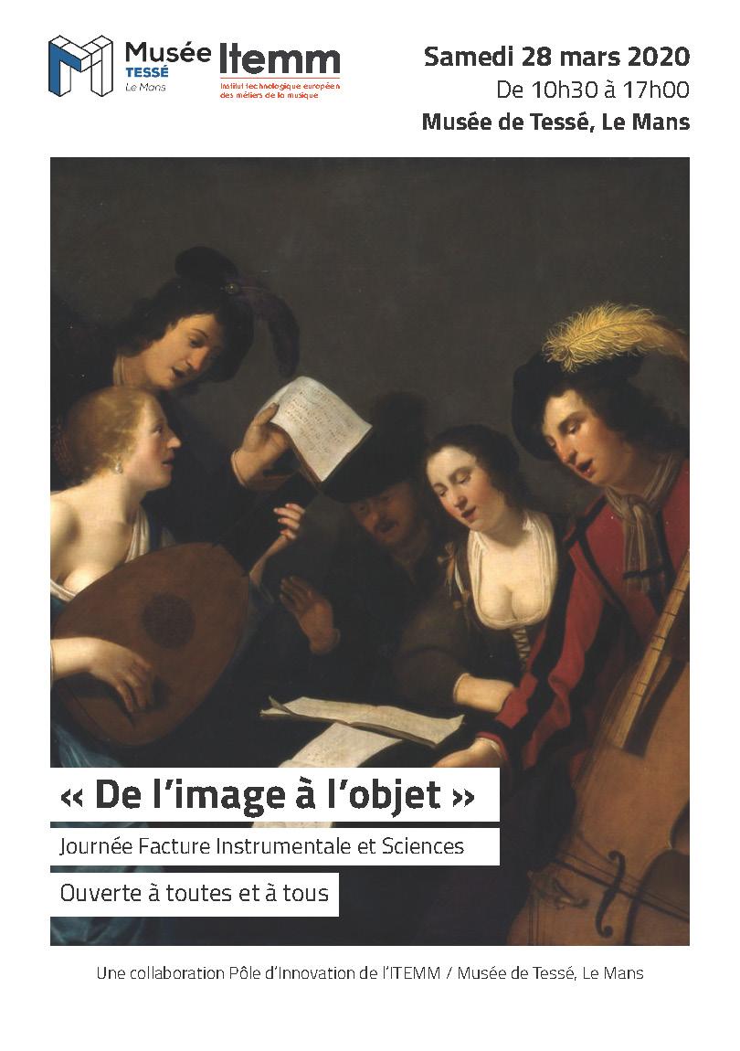 REPORTÉE ! Journée Facture Instrumentale et Sciences « De l'image à l'objet »