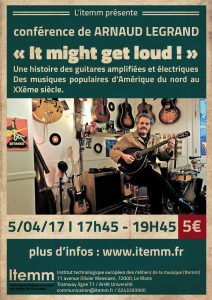 Conférence de Arnaud Legrand : It might get loud !
