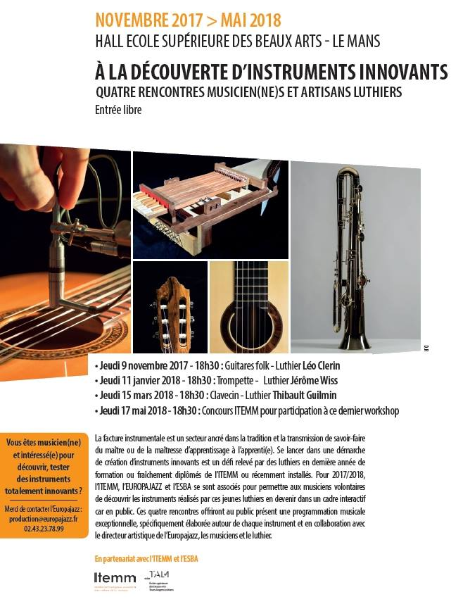4 rencontres musicien(ne)s et artisans luthiers à découvrir au Mans