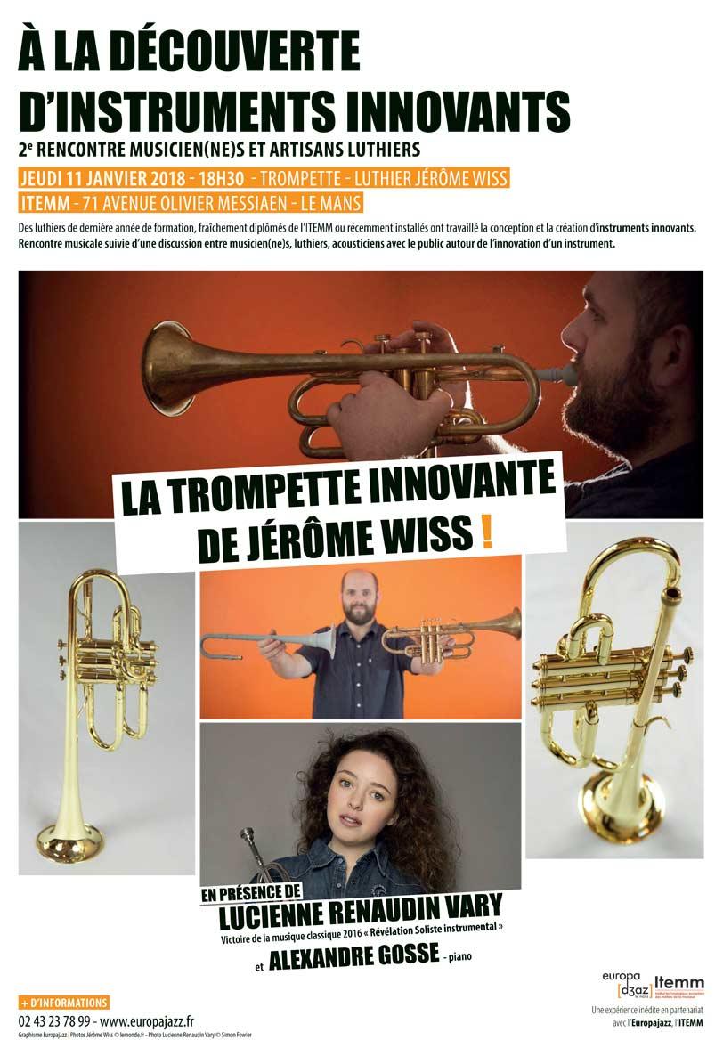 """2ème rencontre ITEMM – EUROPAJAZZ  """"À la découverte d'instruments innovants"""""""