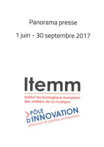Panorama de presse 01/06/17 au 30/09/17