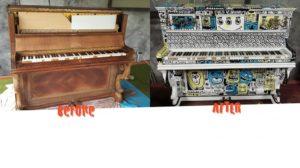 Piano customisé par notre Graphiste à l'ITEMM : Cédric La Touffe