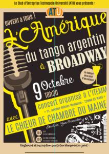 [Il reste des places] – Concert ATU avec Le Choeur de Chambre du Maine le 9 octobre 2018 à l'ITEMM