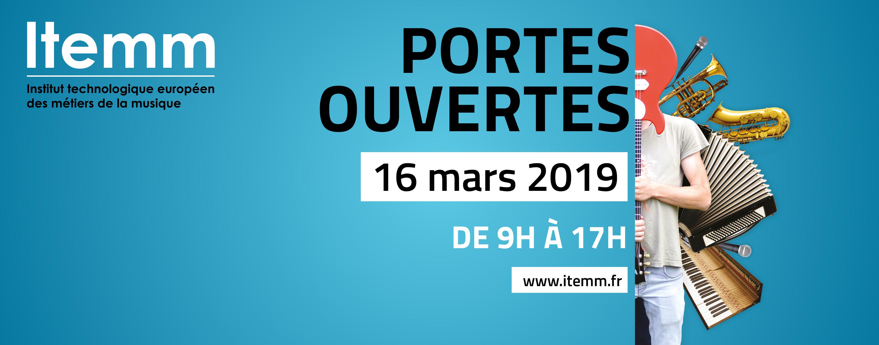 Portes ouvertes de l'ITEMM le 16 mars 2019